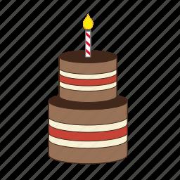 birthday, birthdaycake, cake, candle, celebration, dessert, sweet icon