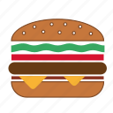 beef burger, burger, cheeseburger, fast food, food, hamburger, meal icon