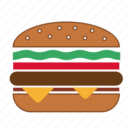 beef burger, burger, cheeseburger, fast food, food, hamburger, meal icon