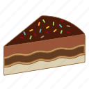 bakery, cake, cheesecake, chocolate, dessert, melt, sweet icon