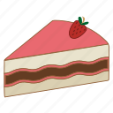 cake, cheesecake, dessert, pastries, strawberry, sugar, sweet icon