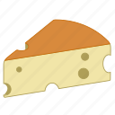 cheese, french cheese, aliment, food, cheddar, appetizer icon