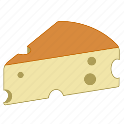 aliment, appetizer, cheddar, cheese, food, french cheese icon