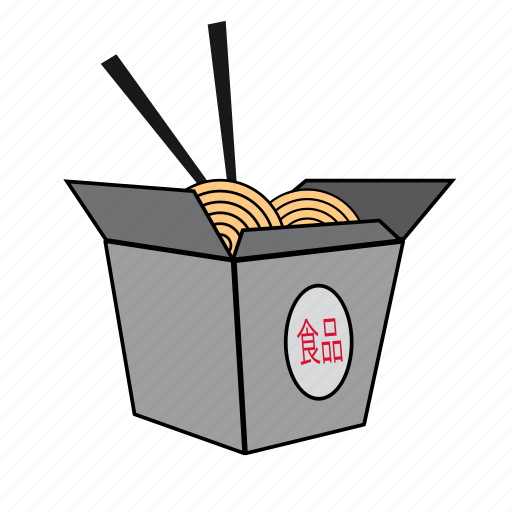 asian food, chinese food, food, noodle, pasta, pasta box, take away icon