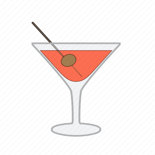 alcohol, beverage, cocktail, drink, glass, olive icon