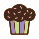 cake, chocolate, cupcake, dessert, pastries, sweet, sweets icon