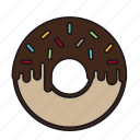 candy, chocolate, dessert, donut, doughnut, melt, sweet icon