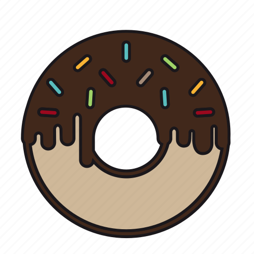 candy, chocolate, dessert, donut, doughnut, melt, sweet icon