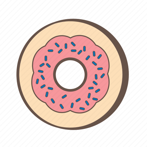 bakery, dessert, donut, doughnut, food, pastries, sweet icon