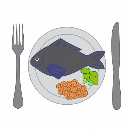 cooking, eat, fish, food, restaurant, vegetable, vegetables icon