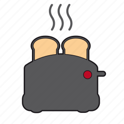 breakfast, food, grill, hot food, kitchen, morning, toaster icon