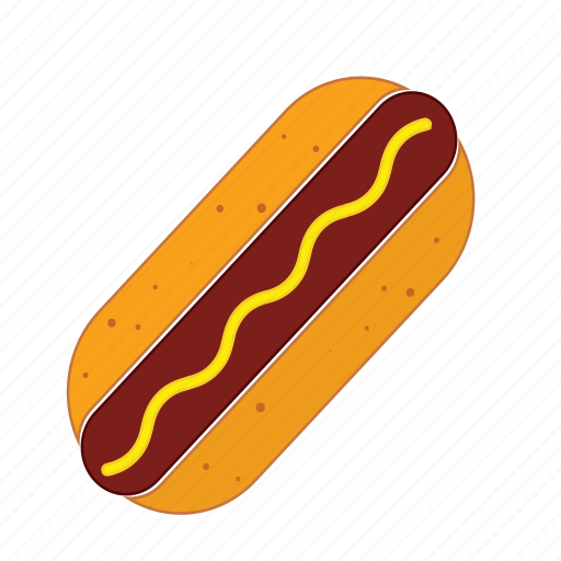 bred, fast food, food, hot dog, junk food, mayo, sausages icon