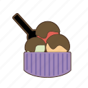 chocolate, cream, ice cream, icecream, sugar, sweet, sweets icon