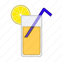 beverage, drink, fresh, fruit, juice, orange, orange juice icon