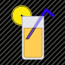 beverage, drink, fresh, fruit, juice, orange, orange juice icon