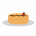 chocolate, dessert, eating, food, pancakes, strawberry, sugar icon