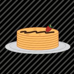 chocolate, dessert, eating, food, pancakes, strawberry, sugar icon