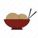 bowl, chopstick, cook, food, noodle, pasta icon