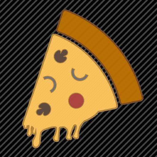 food, italian food, mushroom, onion, pizza, pizza slice, slice icon