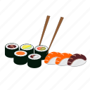 dinner, japan, japanese food, maki, restaurant, salmon, sushi icon