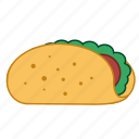 fast food, hamburger, junk food, mexican food, sandwich, taco, tacos icon