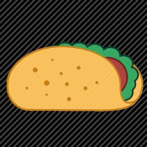 fast food, hamburger, junk food, mexican food, sandwich, taco, tacos icon