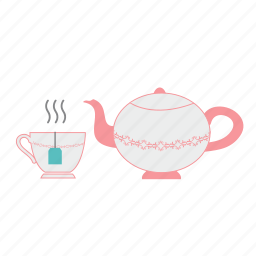 afternoon tea, cup, cup of tea, drink, tea, tea time, tea-pot icon