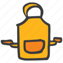 apron, chef, cook, kitchen, pocket, protection, safety icon