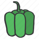 bell, capsicum, food, fruit, green, pepper, vegetable icon