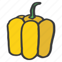 bell, food, fruit, healthy, pepper, vegetable, yellow icon