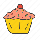 birthday, cupcake, easter, festival, muffin, sugar, sweet icon