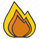 burn, cook, fire, flame, heat, kitchen, light icon