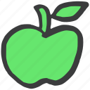apple, carbs, food, fruit, green, healthy, starch icon