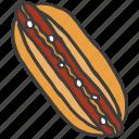 burger, eat, fastfood, hotdog, junk, meat, sausage icon
