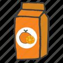 beverage, carton, drink, fruit, orange juice, packaged, pulp icon