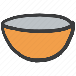 bowl, cook, cup, kitchen, serve, vessel icon