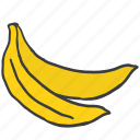banana, eat, food, fresh, fruit, healthy, vitamins icon