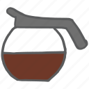 beverage, caffeine, coffee, drink, hot, jug, pot icon
