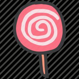 candy, dessert, lollipop, lolly, pop, sugar, sweet icon