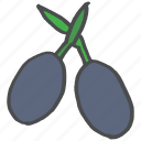 food, healthy, meditteranean, oil, olive, plant icon