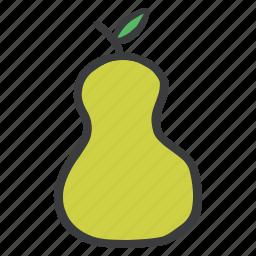 eat, food, fresh, fruit, green, healthy, pear icon
