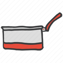 cook, food, kitchen, pan, sauce, utility, vessel icon
