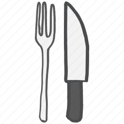 cutlery, dinner, fork, kitchen, knife, restaurant, table icon