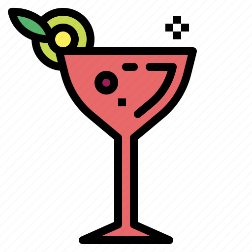 beverage, cocktail, drink, glass icon
