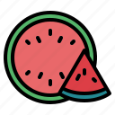 food, fruit, vegetarian, watermelon icon