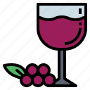 algohol, drink, grape, wine icon