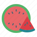 food, fruit, vegetarian, watermelon icon