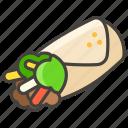 1f32f, burrito icon