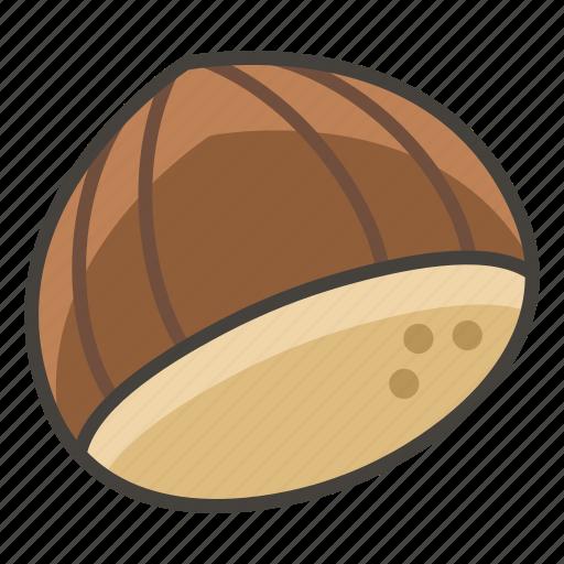 1f330, chestnut icon