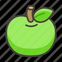 1f34f, apple, green